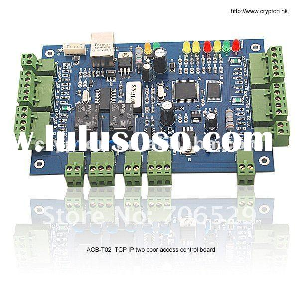TCP/IP Double Door Access Control Board with Fire Alarm