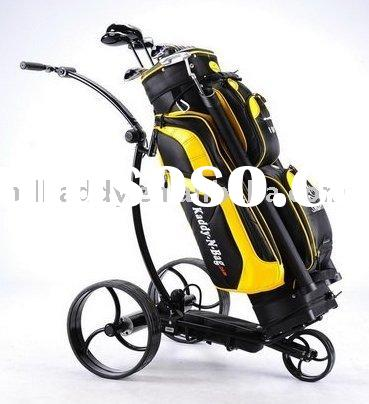 The finest light-weight aluminum electric golf trolleys with tubular motor