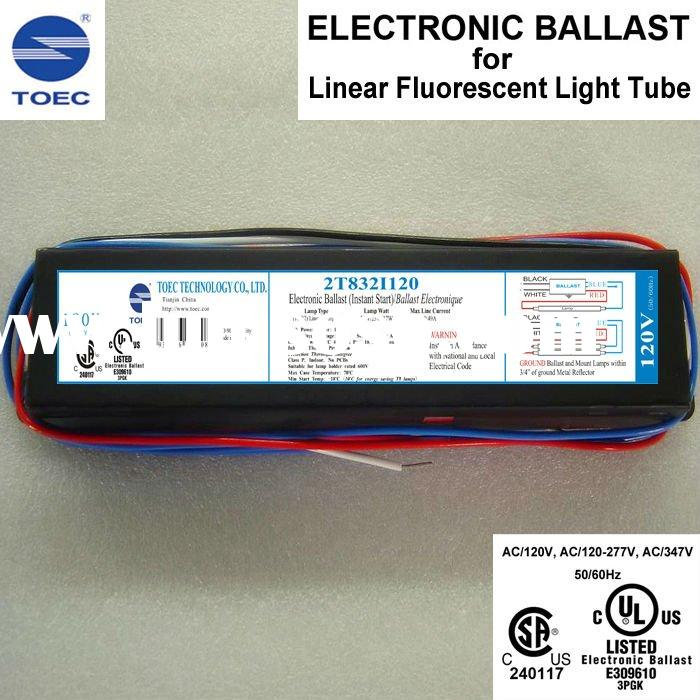 UL(cULus) and CSA Approval Linear Fluorescent Lamp T8 Electronic Ballast