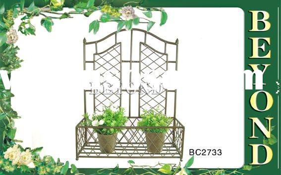 Wrought iron decorative wall hanging basket
