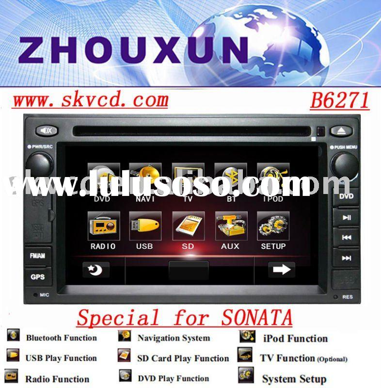 (Hyundai Sonata ) 6.2 Inch two din car DVD player with gps,bluetooth