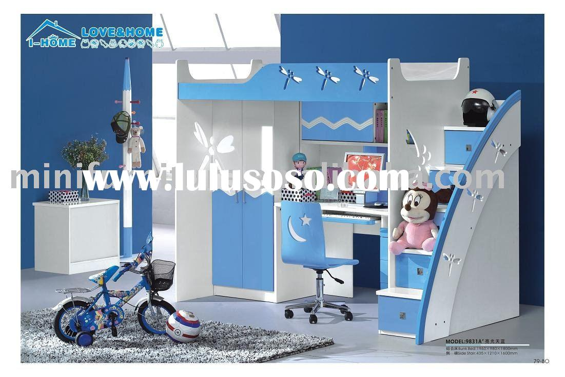 (blue dragonfly)bunk bed-9831A#