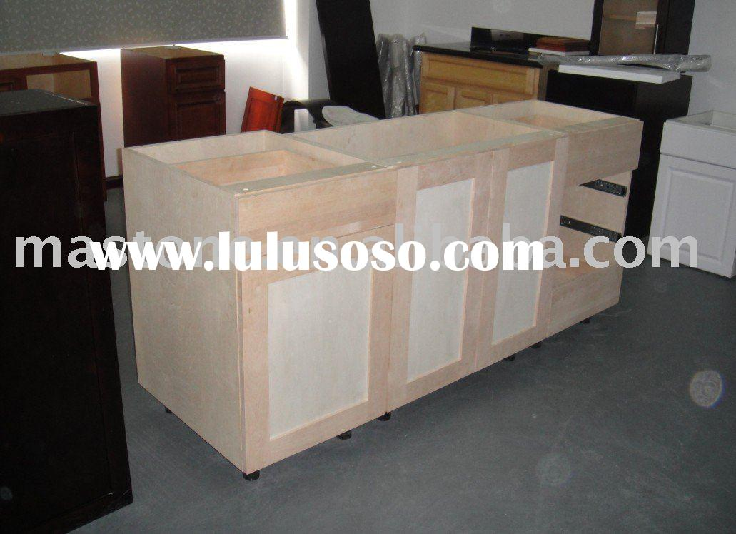 american style unfinished wood kitchen cabinet