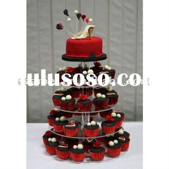 best sell 5 tiers acrylic cupcake stand