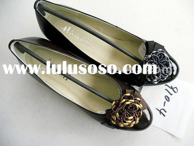 black new style 2012 latest design Spring lovely bulk ladies shoes