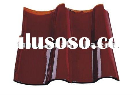 competetive price good quality Maroon colour clay roof tile