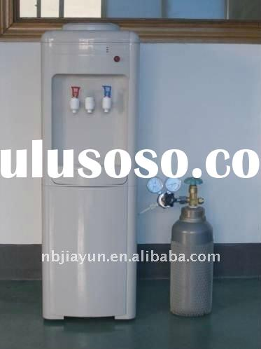 compressor cooling cold and hot water dispenser with sparkling