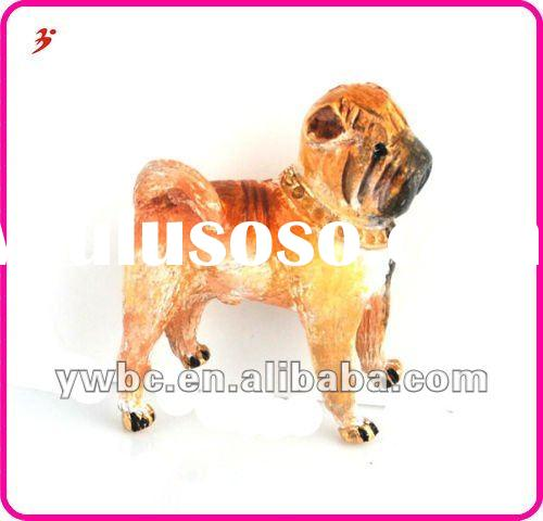 fashion design gold plated alloy wolf dog pendant charms jewellery (A1105298)
