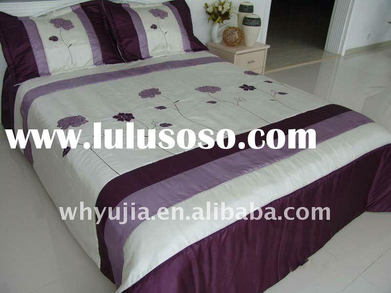 fashion embroidery quilt bedding sets