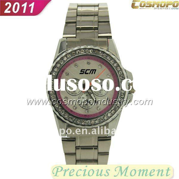 fashional ladies watch with stones