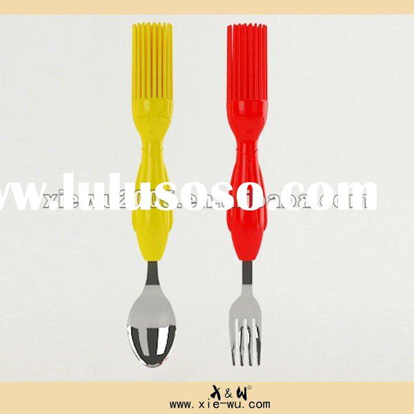 hair shaped stainless steel fork and spoon/dinner fork and spoon composition for best gifts