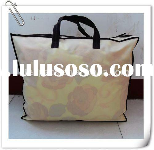 large zippered tote bag, non woven bag with zipper