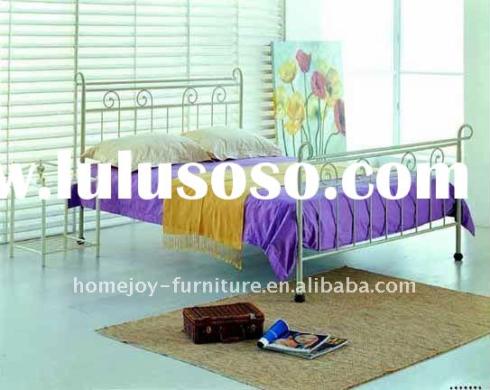 metal bed with antique brass decoration