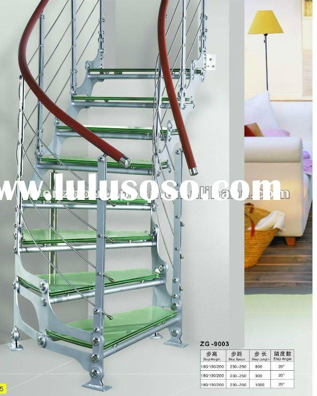 stainless steel arc glass stair