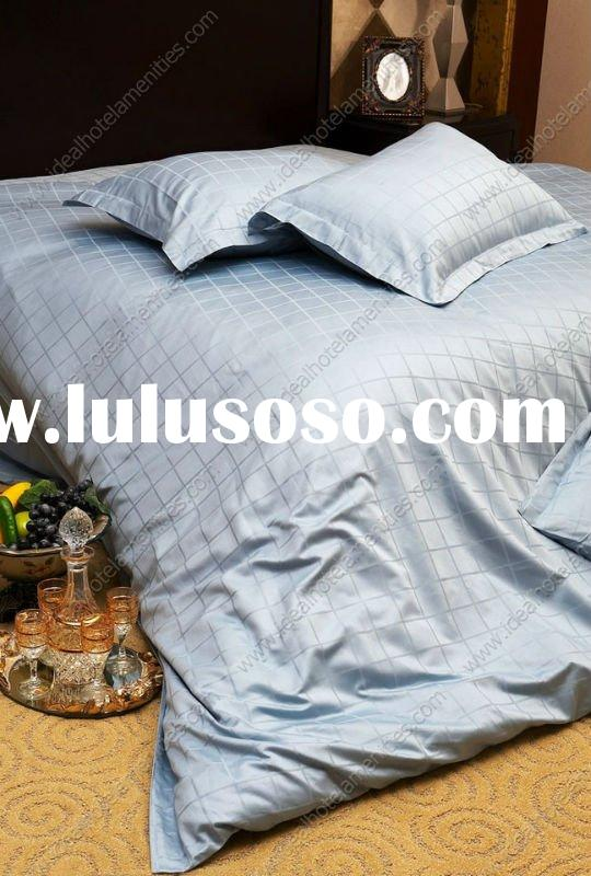 100% cotton dyed hotel bedding set,luxury bed linen