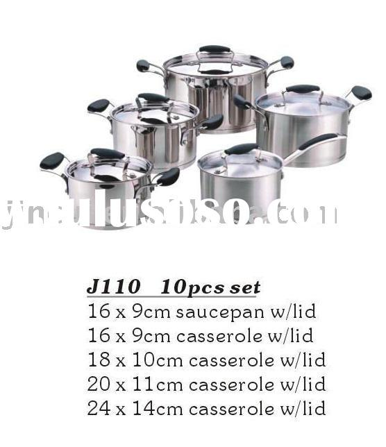 10 PCS stainless steel cookware set