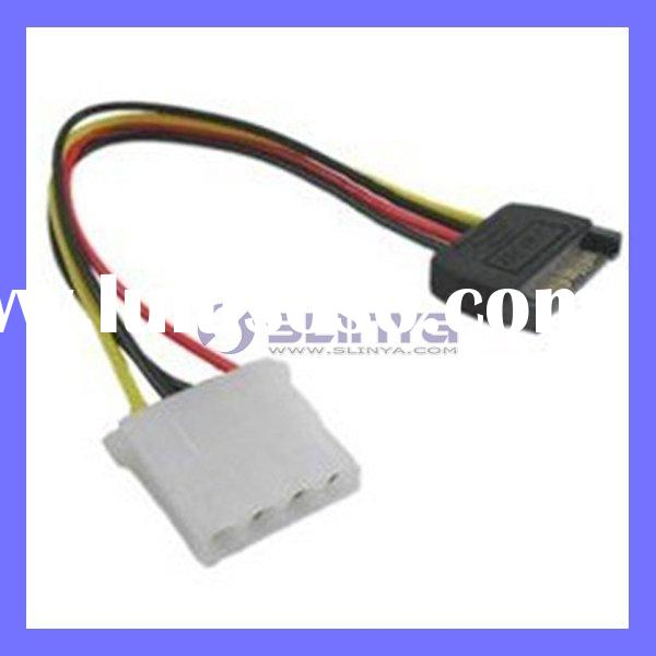 15 Pin SATA Cable Male to 4 Pin IDE Female HDD Power Cable