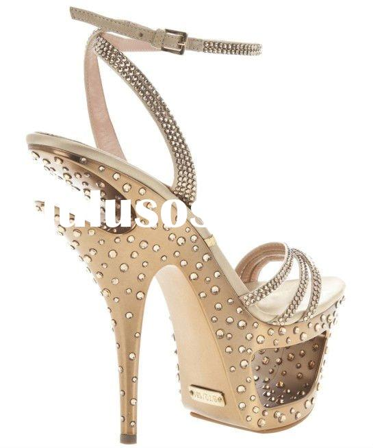 2011 new design high heel fashion jeweled shoes wholesale/retail