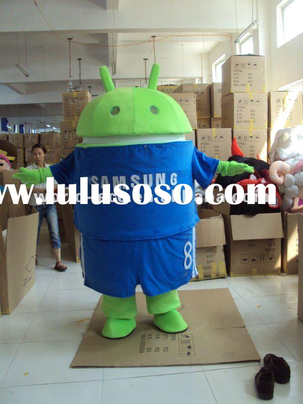 2012 new cartoon Android robot mascot costume cartoon costumes for advertisment