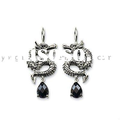 2012 popular hot sell Chinese dragon jewelry earrings