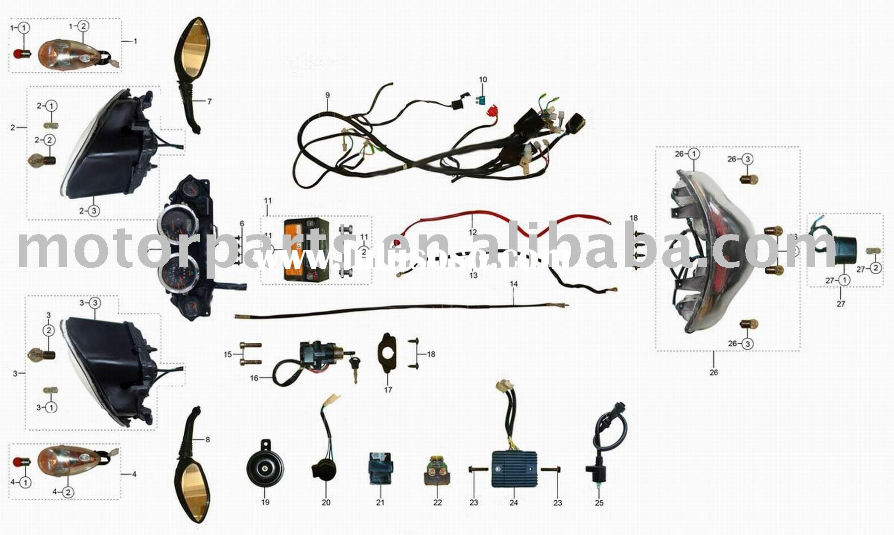 50cc scooter wiring diagram coil atv parts/motorcycle parts/motocross parts/ wiring for ... #2