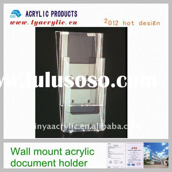 3 tiers wall mount acrylic document holder