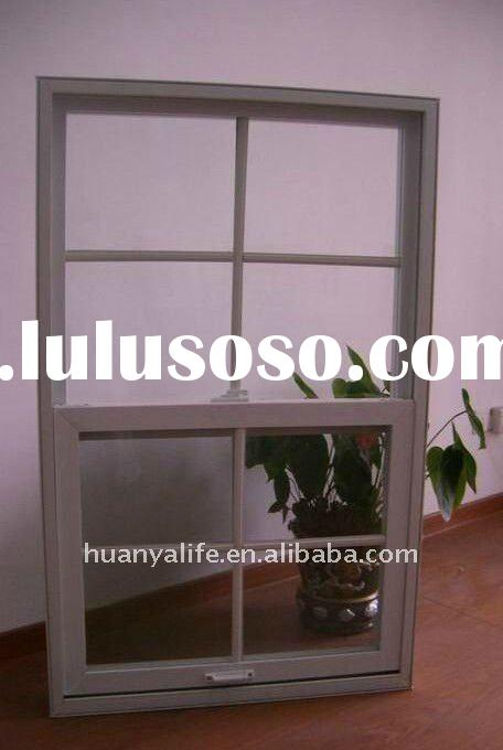 American style Single Hung PVC window With grid (Vertical Sliding window)