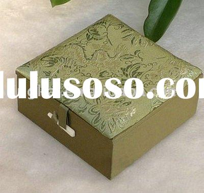 Antique chinese silk decorative jewelry boxes