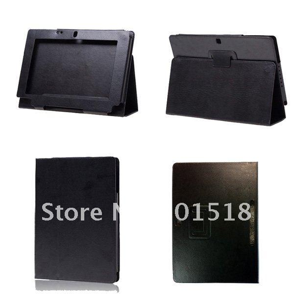 Black Stand Leather Case Cover for Acer Iconia Tab W500 10.1 inch Tablet