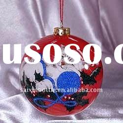 Christmas Cats Glass Ball Ornament