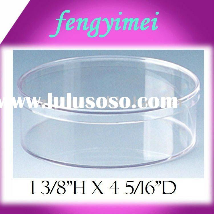 Circular clear acrylic box/ perspex storage case/plexiglass box with lid