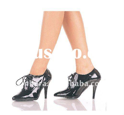 Classic Black lace-up high heel oxford shoes/ladies high heel dress shoes