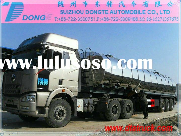 DTA 2/3/4axles 20~50 cbm Stainless Steel crude oil Tanker Semi Trailer tanker trailer