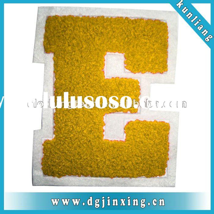 Embroidered sew on letters for decoration 140557