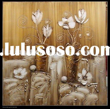 Flower oil painting, new-1148