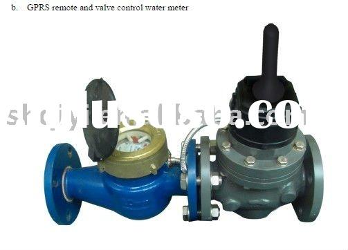 GPRS remote and valve control water meter