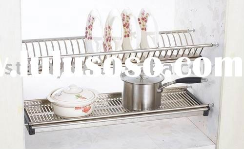 HCJ731 Kitchen Stainless Steel Dish Carrying Rack