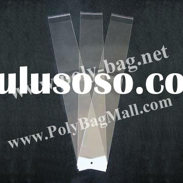 Hair Extensions Poly Bags (10x49cm) with white header and self adhesive seal
