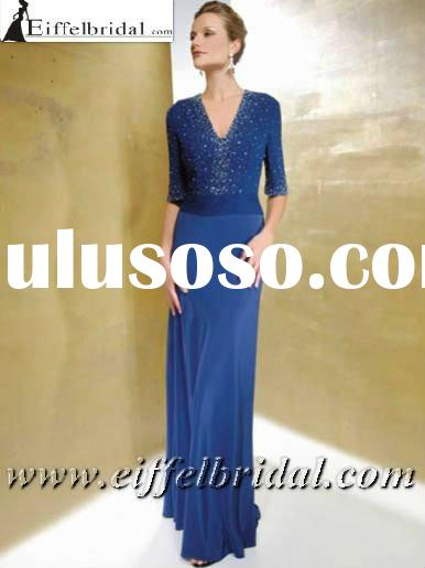 MD223 Discount elegant shiny sequins beaded mother of the bride dress with jacket