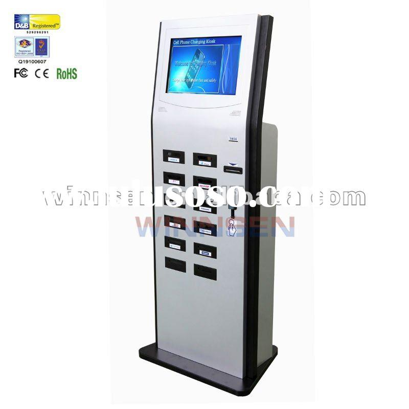 Mobile phone charger station with LCD screen