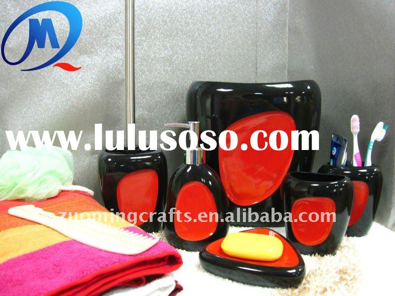 Polyresin Red Camelot Bathroom Accessories For Sale