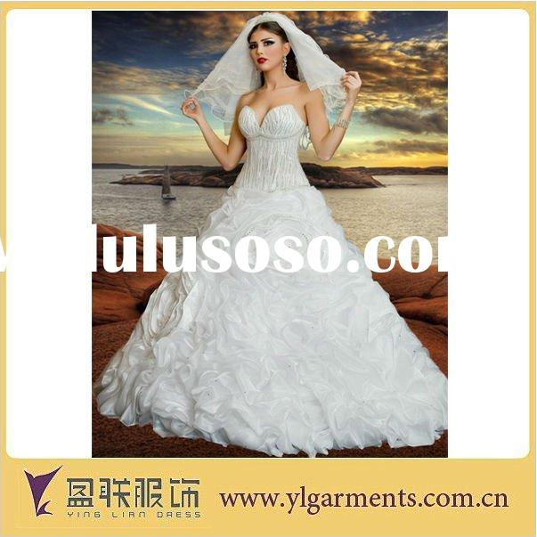 Organza Feather Lace Wedding Dresses