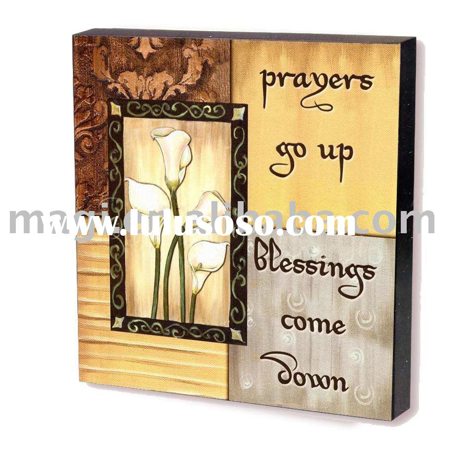 Prayers&Blessing Classical Wood Wall Decoration