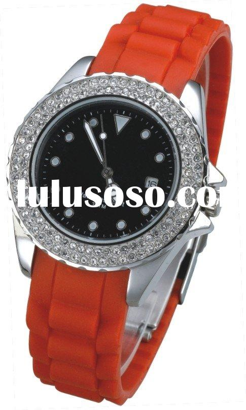 Quartz Watch for Ladies-Steel case and silicone strap (Business series)