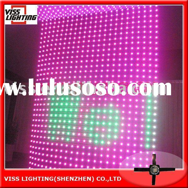 Soft LED Video Wall / Flexible LED Curtain Display