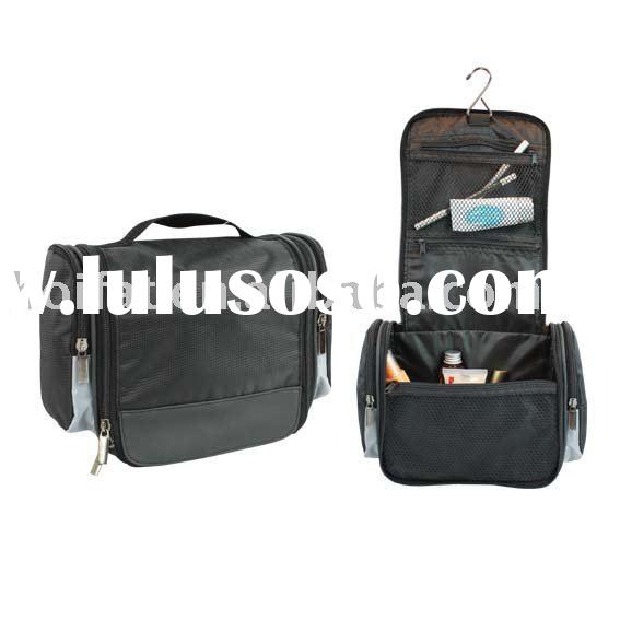 Toiletry bag Polyester Vanity Case PVC Bathroom Bag PU Toilet Bag Bath Pouch Washing Bag Hanger Man