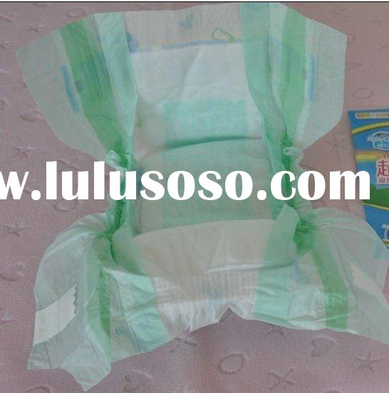 Ultra-thin disposable baby diaper
