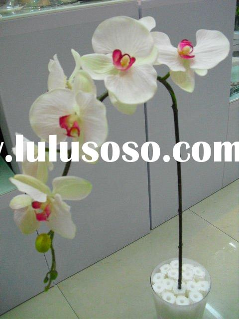 White artificial orchid flower for indoor decoration