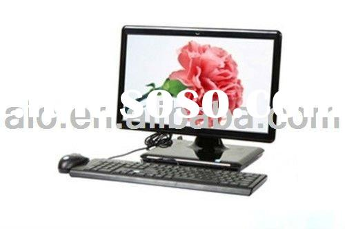 all in one computer touchscreen intel atom D525 full HD,17 inch all in one pc/pctv