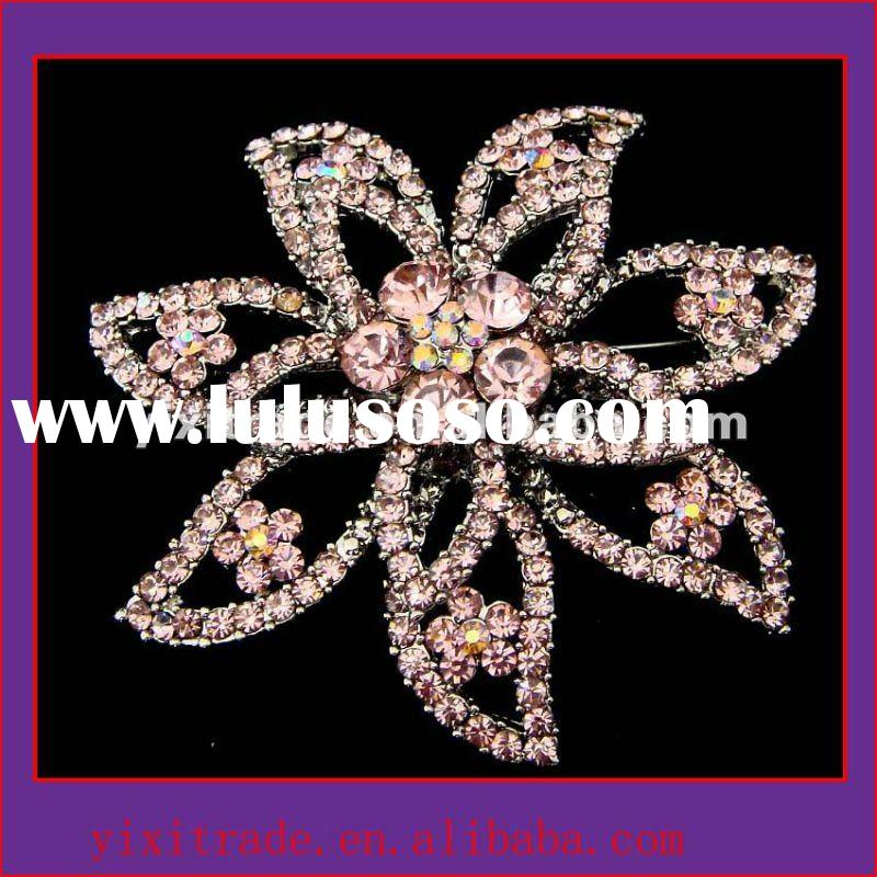 brooch/brooches in bulk/clip brooch crystal